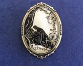 Sale 20% Off // SLEEPING BEAUTY Brooch - Silhouette Jewelry // Coupon Code SALE20