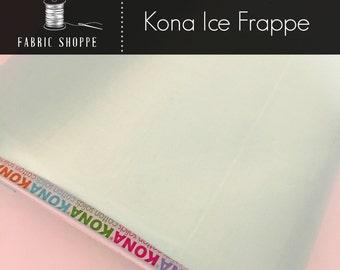 Kona solid fabric, quilt fabric, Kona ICE FRAPPE 1173, green fabric, Solid fabric Yardage, Kaufman, Cotton fabric, Choose the cut