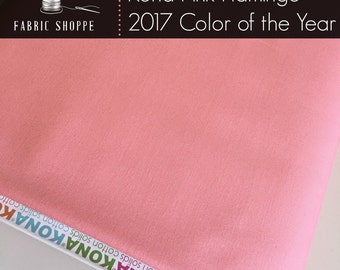 Kona Color of the Year, Kona PINK FLAMINGO 629, Flamingo Pink fabric, COTY, Solid fabric Yardage, Kaufman, Pink fabric, Choose the cut
