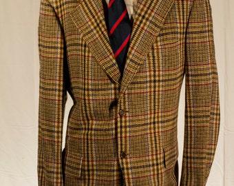 Men's Blazer / Vintage Plaid Jacket  / Size 40 Medium