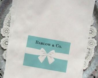 Aqua Favor Bags -  Aqua Blue Wedding - Aqua Blue Wedding Favors - Aqua Blue Favor Bag - Aqua Wedding Favors - Favors For Tiffany