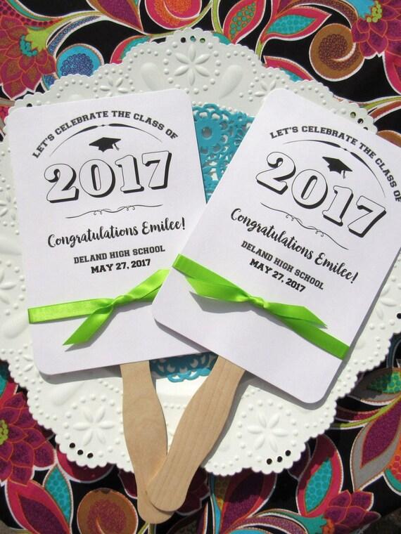 Graduation Favors | Graduation Party Favors - Graduation Fans - Class of 2017 -  High School Graduation - College Graduation - Grad Favors
