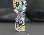Handmade lampwork bead focal       Wildflowers    free-formed     SRA     artisan glass    Silke Buechler