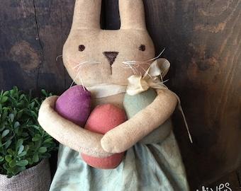 Easter Egg Hunt Primitive Bunny Rabbit Pattern