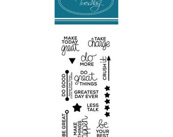 Technique Tuesday - Great Things Planner Clear Stamp Set, Scrapbooking, Craft, Card Making, Stamping, Motivate, Inspire