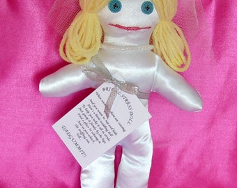 Wedding Stress Doll Blonde Hair Blue Eyes