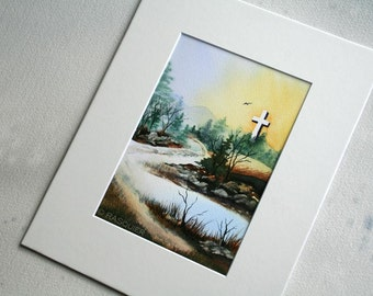 PRINT Viola's Cross a Giclée Fine Art Print 5x7 inches
