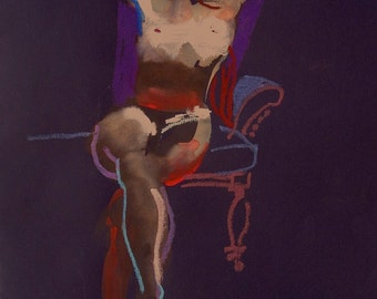 Nude painting#1379 Original painting by Gretchen Kelly