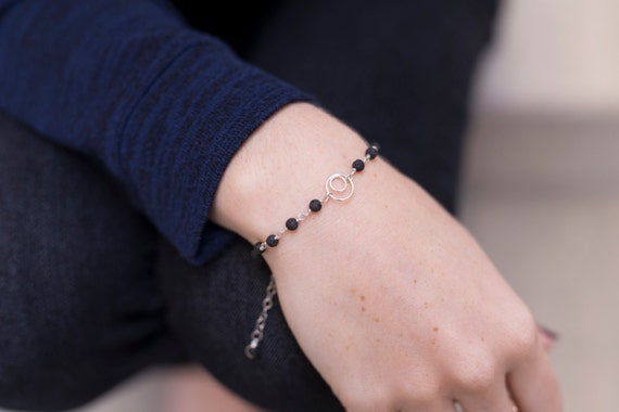 LAVA Rock diffuser jewelry for essential oils - simple / lava essential oil bracelet