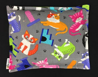 Corn Heating Pad 9 x 11, Corn Bags, Microwave Heating Pad, Heated Bag, Cat Lover Corn Bag, Relaxation Gift, Ice Pack, Gift For Kids, Warmer