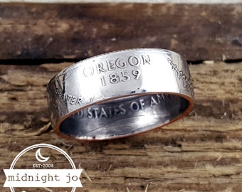 Oregon Coin Ring State Quarter Double Sided