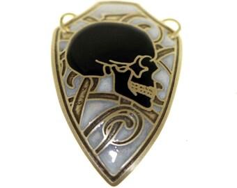 skull pendant, skull necklace, skull jewelry, gold skull pendant, mens gothic jewelry, gothic jewelry women, women skull necklace, black