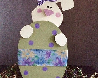 """Standing bunny with Easter Egg,  16"""" tall"""