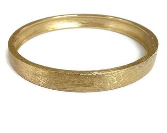 Monet Bangle Bracelet in a Brushed Gold Tone Finish Vintage signed