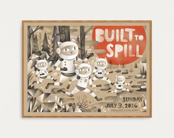 Built To Spill - Space Cats Poster - Official Gig Poster - 18x24
