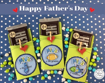 Fathers Day Gift / Candy Bar Wrappers/ Hershey Bar/ Fishing / Football / Tie / My Dad is Awesome/Fathers Day Gift Ideas/ Greatest Dad