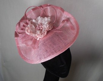 Pink hatinator. Wedding hat-Races hat-Special occasion hat.