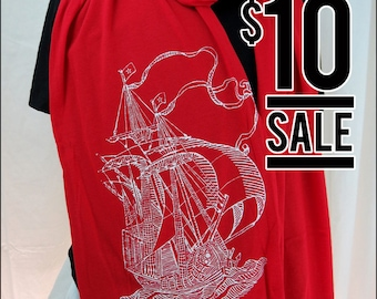 10 Dollar Sale-- Clipper Ship Sheer Jersey Cotton Scarf