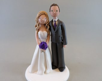 Unique Cake Toppers - Bride & Groom Customized Wedding Cake Topper