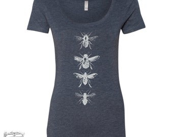Womens BEES TriBlend Scoop Neck Tee - T Shirt S M L XL XXL (+ Colors) Zen Threads