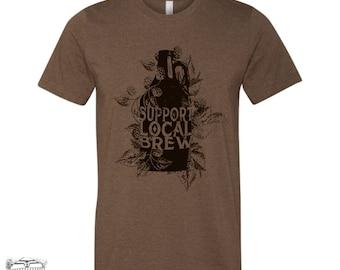 Unisex Local BREW Tri-Blend Vintage Soft Graphic T Shirt - xs s m l xl xxl xxxl [+colors]