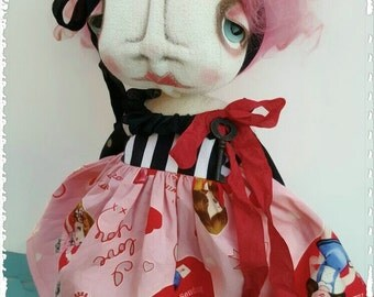 Valentine Goth Art Doll by Grimitives  Olivia Love