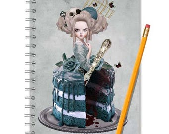 Marie Antoinette Notebook - Marie Antoinette Journal - LINED OR BLANK pages, You Choose