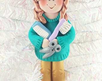 Gift for Beautician - Hairdresser Christmas Ornament - Beautician Christmas Ornament - Hairdresser Gift - Salon Christmas Ornament - 1117