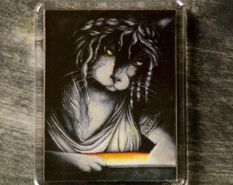 Pandora Cat Art Magnet Greek Mythology Cat Fridge Magnet