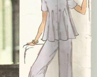 Vintage 70s Vogue 2977 Misses Palazzo Pants and Flared Tunic Top By Stan Herman Sewing Pattern Size 16 Bust 38