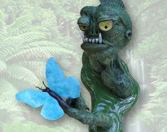 Sunday with Swampboy, original mixed-media sculpture by Jett Vincent Bailey
