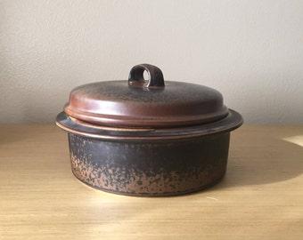arabia finland ruska lidded casserole