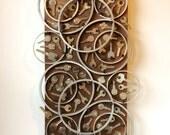 Rings & Keys sculptural assemblage / wall hanging