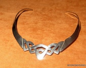 Sterling Silver Collar Necklace Choker Mexico 37g