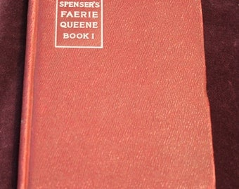 Spenser's Faerie Queene Book 1 Epic Poem Vintage Poem Book