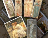 Pre Raphaelite Digital Printable, Instant Download, Digital Collage Sheet