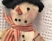 Snow Man, Wisk Broom, Snow Men, Snow, Collectible Snow Man, Home Decor, Snowman Doll, Winter Decorating, HAFAIR Primitive Decor