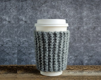 Coffee Mug Cozy, Knit Coffee Sleeve, Coffee Cozy, Cup Cozy, Chunky Knit, Coffee Cup Cozy, Coffee Cup Sleeve, Cup Warmer, Graduation Gift