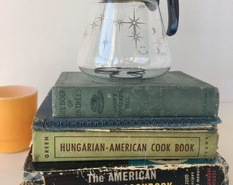 Collection of Vintage Antique Cookbooks American Everyday Hungarian Book of Entrees Jessie Marie DeBoth Ephemera Crafting