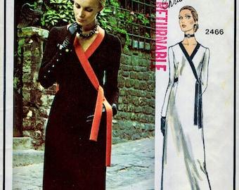 Vogue Paris Original Pattern 2466 - Christian Dior Asymmetrical Front Closing Dress in 3 Lengths * Size 10, bust 32.5 UNCUT