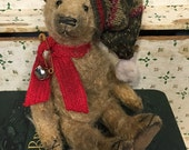 Sam ~ Christmas, holiday, teddy, bear ~Brady Bears Studio ~ artist, handmade, mohair, ooak, faap, hafair
