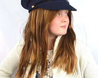 Vintage Irish Ireland Blue Military Hat