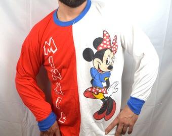 Vintage 80s Mickey Minnie Mouse Nightie Tee Shirt