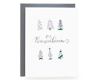 O Tannenbaum - Letterpress Holiday Cards - set of 6