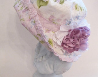 Girls Hat - Childs Hat - 12 to 24 months - Janie and Jack - Upscaled - Beach Hat - Flower Girl Hat - by mailordervintage on etsy