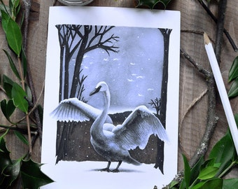 First Snow - Holiday Greeting Card