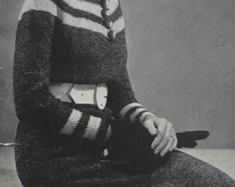 Patron de robe en tricot des années 30