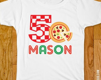 Pizza Party Iron-On Shirt Design - Choose child or onesie size