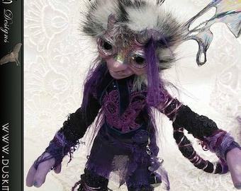 Winter Briar - polymer clay, goblin, elf, faerie, fairy, ooak, art doll, sculpture, creature, pixie