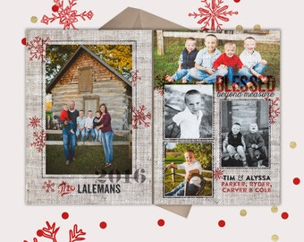 Christmas Card · 5 pictures · Rustic Vintage Blend  · Perfect for your outdoor barn photos · Holiday Photo Cards